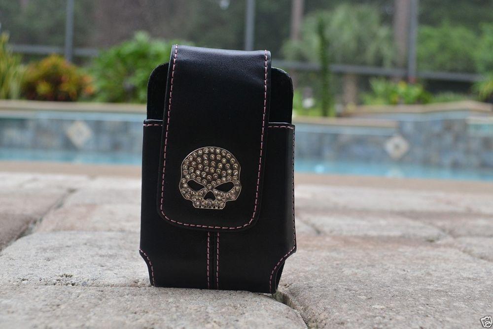Harley Davidson Skull Phone Belt Clip Case Iphone 4 4S Stocking Stuffer 1C #HARLEYDAVIDSON