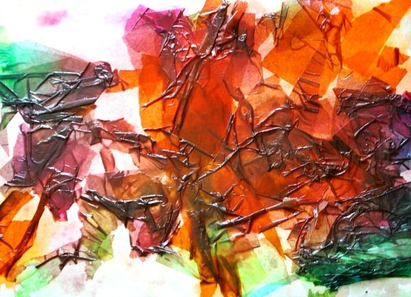 how to make tissue paper art