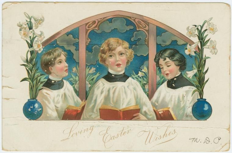 Loving Easter wishes. (ca. 1907)