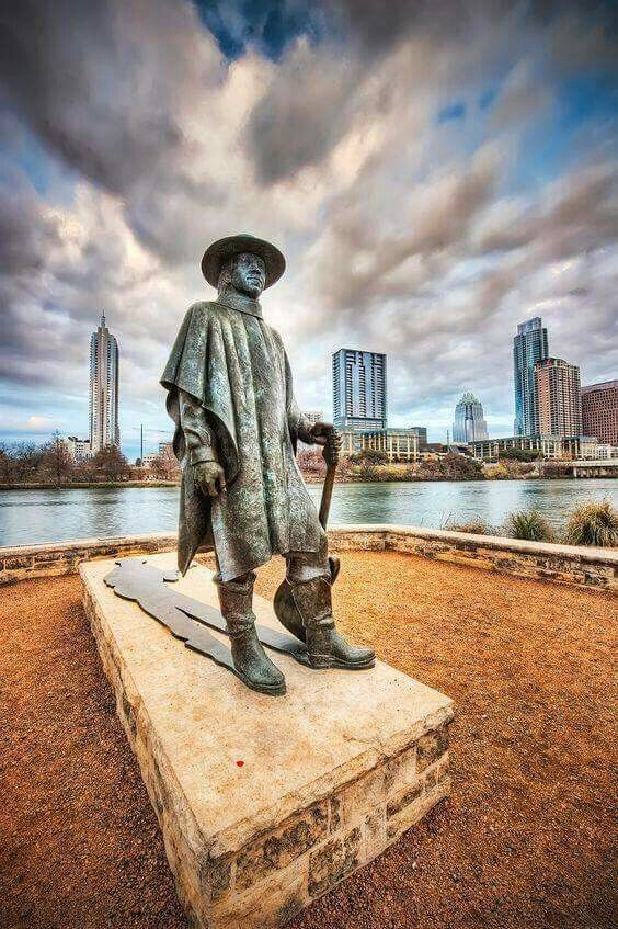 Stevie Ray Vaughan Statue In Austin Texas Been Here Lived Here