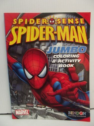 Spider Sense Spider Man Jumbo Coloring Activity Book By Bendon 0 11 Spider Man Spider Sense 48x2 Sided Pages Co Spiderman Coloring Books Color Activities