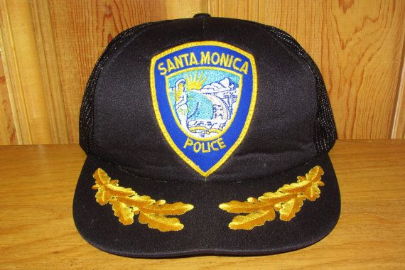 1a0b2210a9f36 SANTA MONICA Police Department Original Vintage 80s Laurel Snapback Hat at  HatsForward