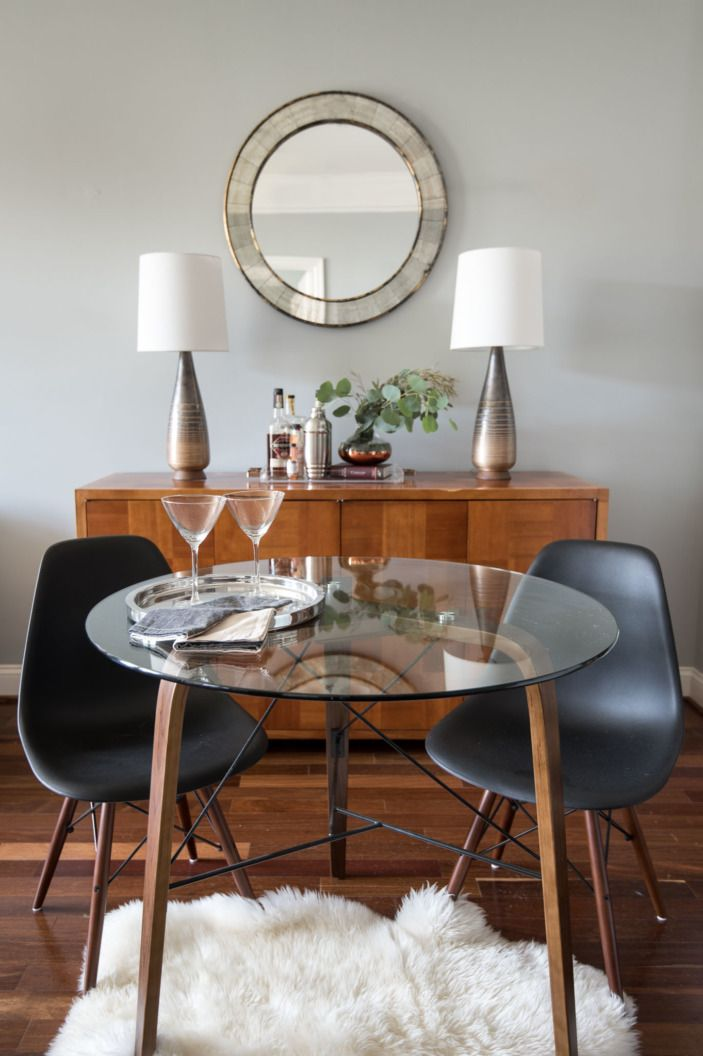 A Calm And Collected Dc Bachelor Pad Homepolish Glass Dining Room Table Small Glass Dining Table Glass Dining Table