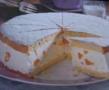 Photo of Cheese – cream – tart with mandarins or peach