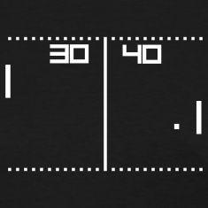Black vintage tennis game Women's T-Shirts