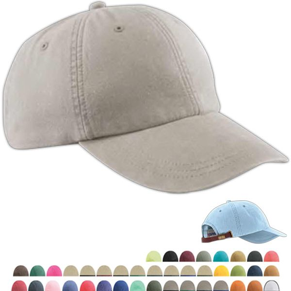 60311e3d1aa33 Six-panel low-profile pigment-dyed cap made of 100% garment-washed ...
