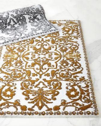 Gold Bath Rugs Rug I Horchow Scrollwork And White