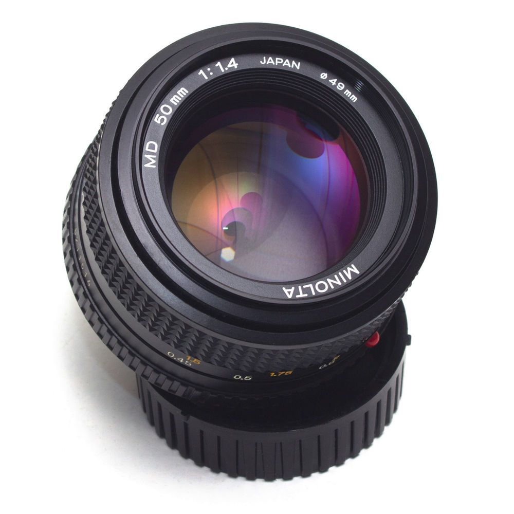 Minolta MD 50mm F1.4 Prime LENS MC Manual Focus for Full Frame Film ...