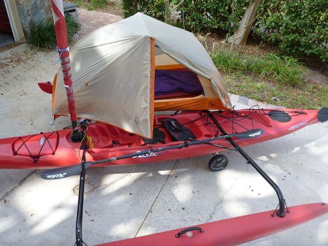 Hobie adventure island camping kayak kayak (With images