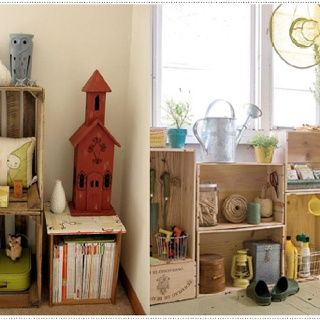 Decorating With Wooden Crates Pinned By Kim Country Girl At Heart