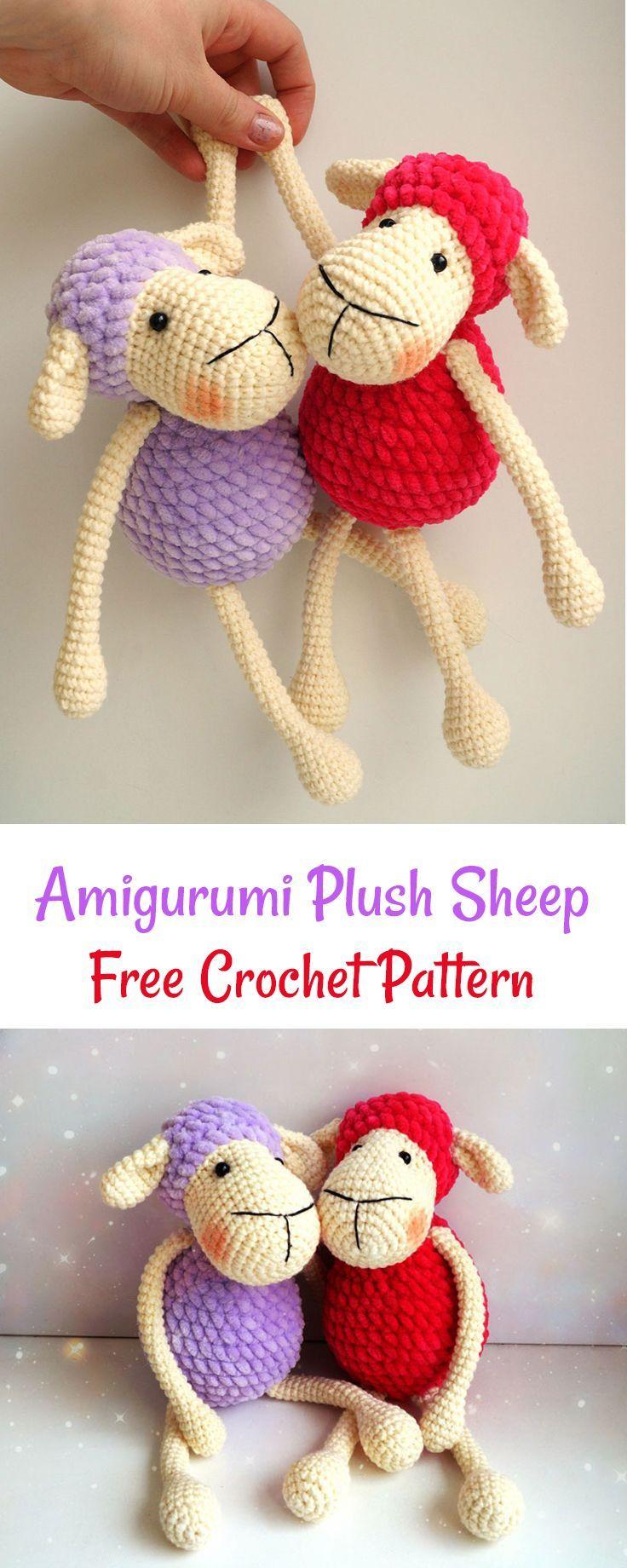 Amigurumi sheep plush toy pattern | Free crochet, Super easy and Crochet