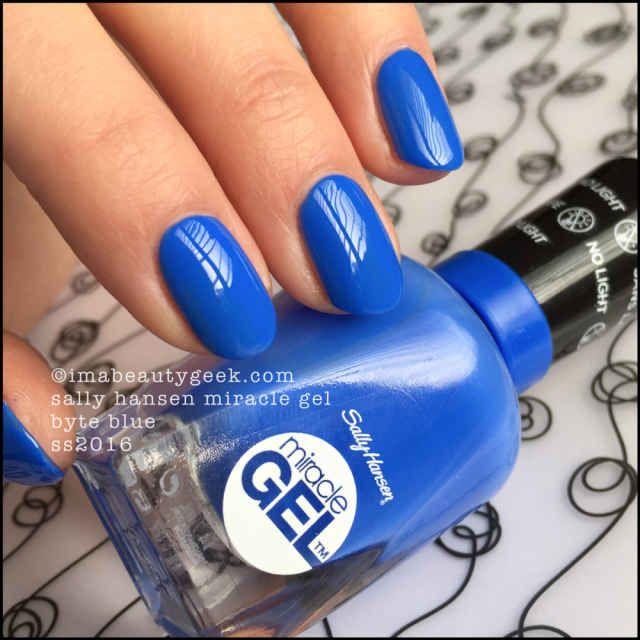 Sally Hansen Miracle Gel – Byte Blue | Nails | Pinterest