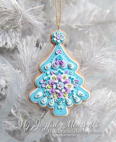 *POLYMER CLAY ~ Handcrafted Polymer Clay Christmas Tree Ornament
