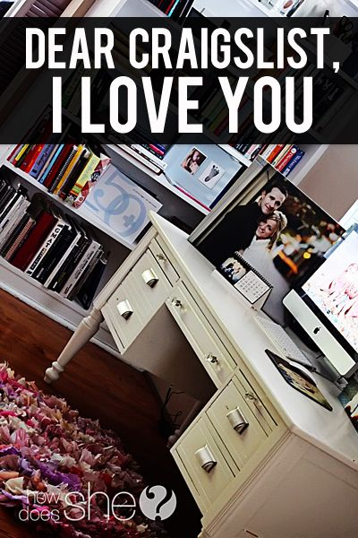 Dear Craigslist I Love You Desk Redo Diy Projects And Organization Home Management