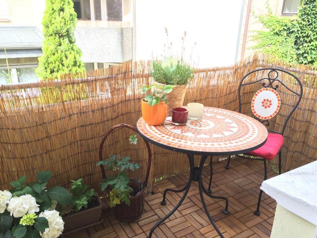 mosaik-möbel und sichtschutz für den balkon selber machen. #diy
