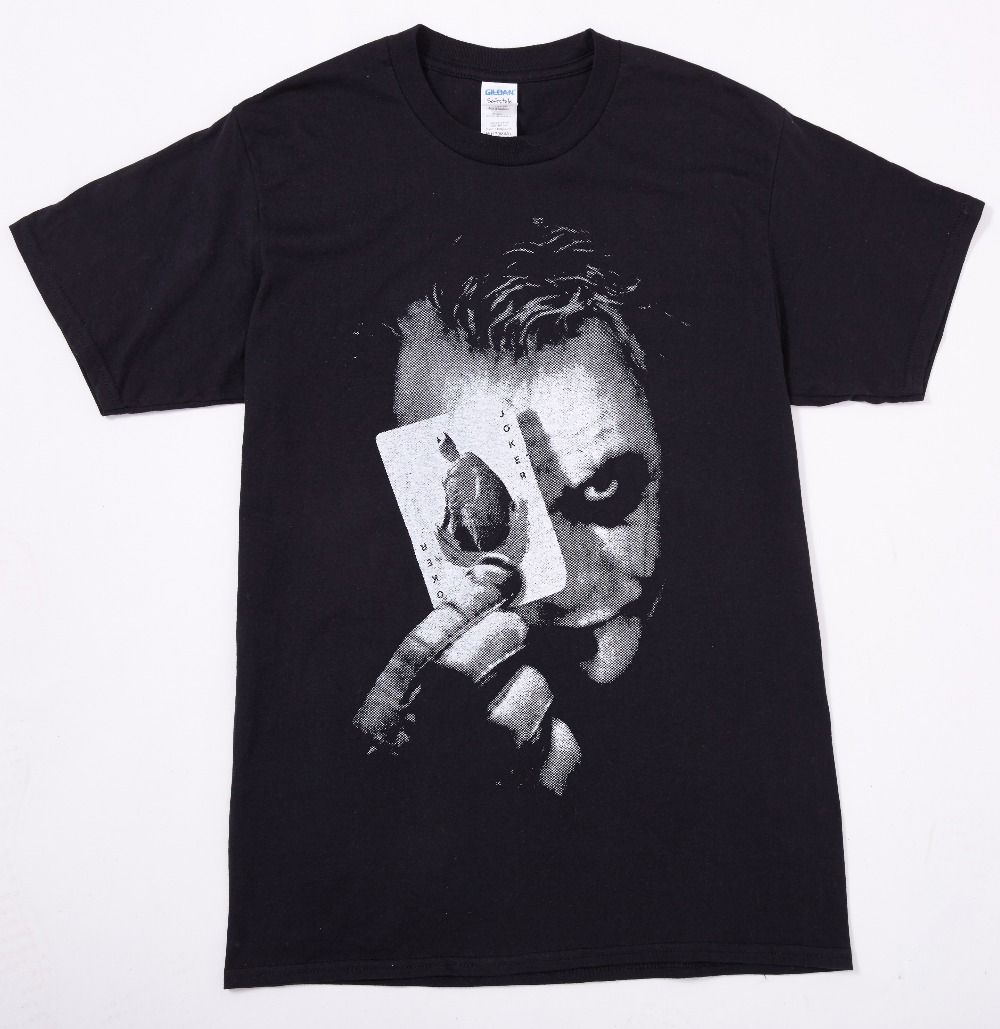 Click to Buy << Batman The Dark Knight Joker Print Cotton T Shirt