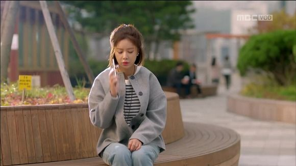World Travel Over Flowers: She yeppeotda 11th hwangjeong fashion: coat, pajamas, overalls overalls, pink knitted coat, necklaces, bags, jackets jumpers