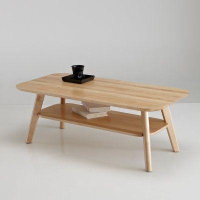 Table Basse 2 Plateaux Bouleau Massif Jimi La Redoute Mobile Table Basse Table Basse Jimi Table Basse La Redoute