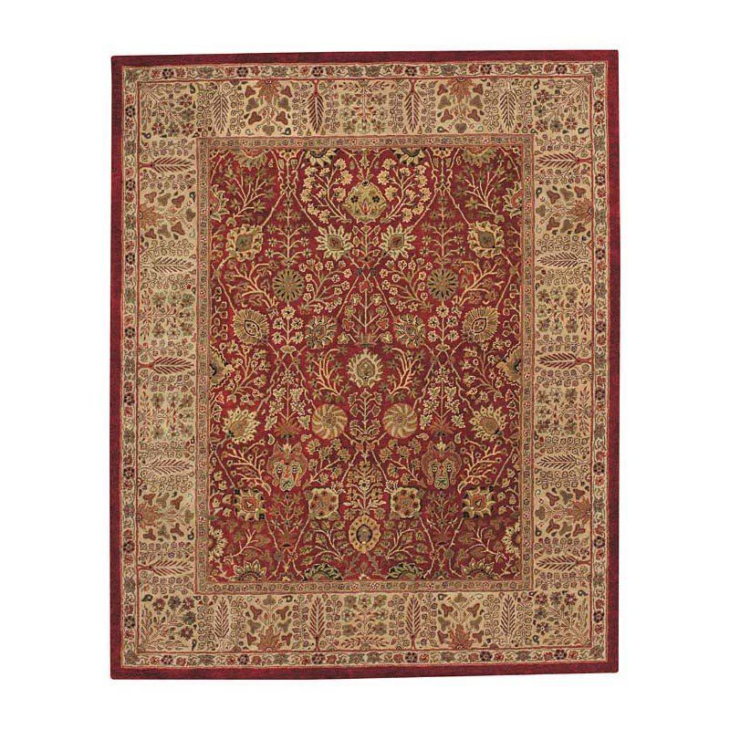 Forest Park-Persian Cedars 9292 Hand Tufted Rectangle Area Rug - Red - 9292NS02060806500