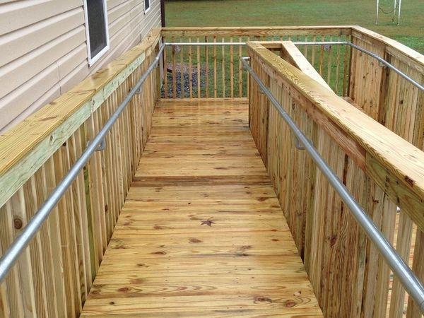 Best Ada Railing On Wooden Ramp Wooden Ramp Access Ramp 400 x 300