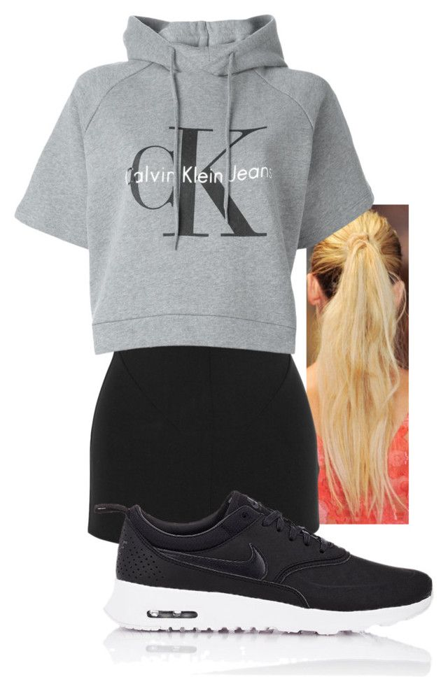 """Untitled #2701"" by ma-rae ❤ liked on Polyvore featuring moda, Esteban Cortazar, Calvin Klein Jeans i NIKE"