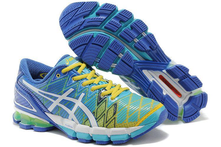 Asics Gel Kinsei 5 Mens Running Shoes Blue Yellow White