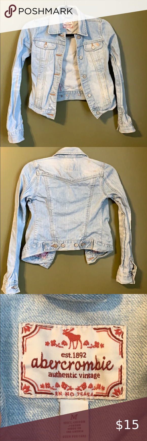 Abercrombie Jean Jacket Vintage Denim Jacket Vintage Denim Abercrombie Jeans [ 1740 x 580 Pixel ]
