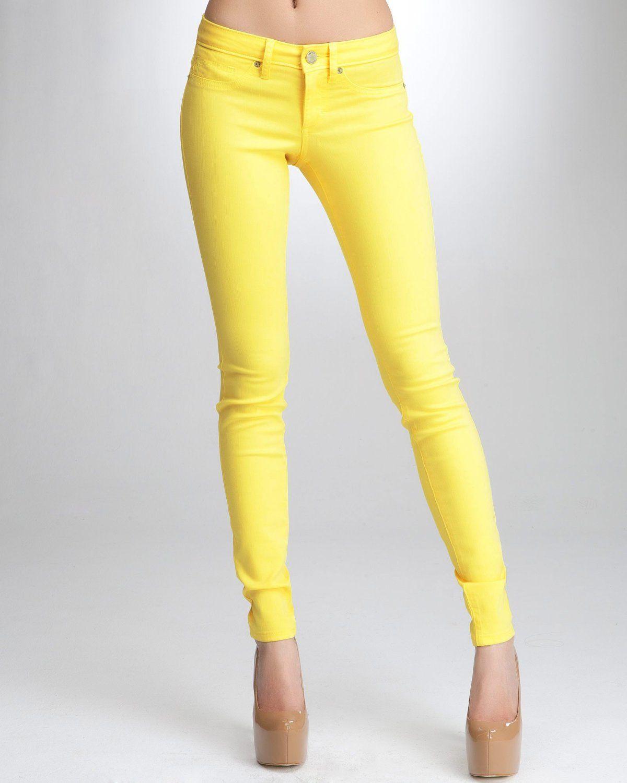 Yellow Skinny Jeans - Xtellar Jeans