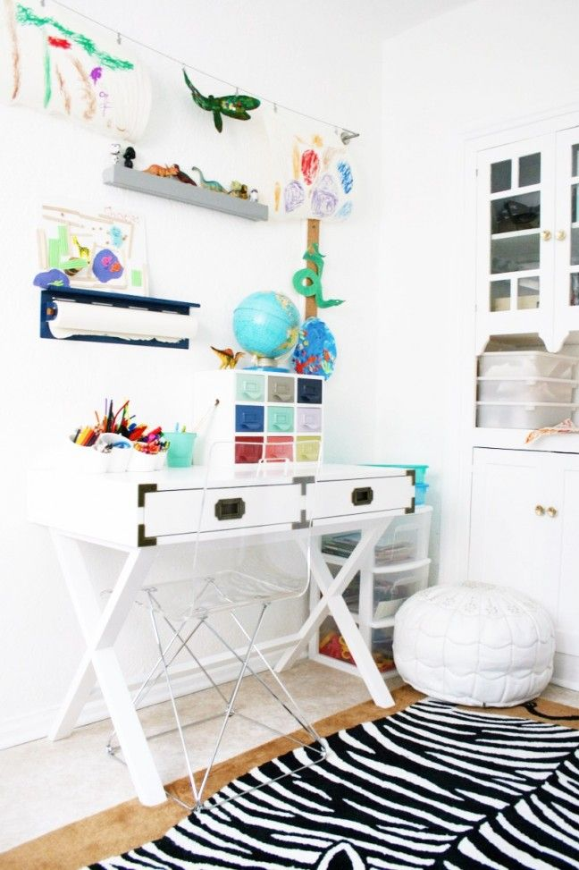 How to Create a Small Space Art Nook for Kids