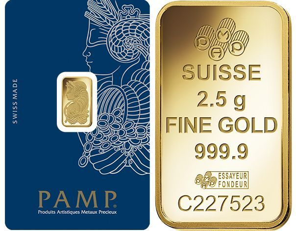 One Hundred 100 2 5 Gram Pamp Suisse 9999 Pure Gold Bars Free Shipping Pure Products Pure Gold Gold Bar