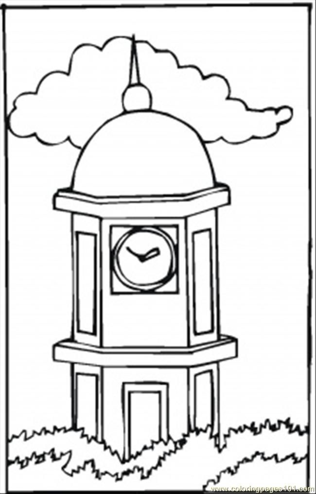 Free Coloring Pages Of Ben Clock