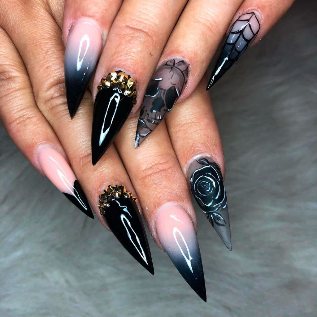 The Best Halloween Nail Designs In 2018 Stylish Belles Halloween Nail Designs Halloween Nails Black Halloween Nails