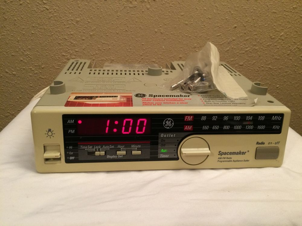 Vtg General Electric Ge 7 4230a Spacemaker Radio Outlet Light