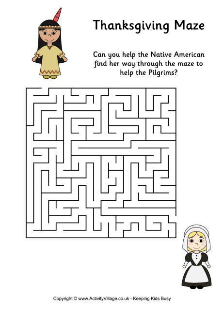 Thanksgiving Maze 2 Pancake Day Mazes For Kids Thanksgiving Preschool