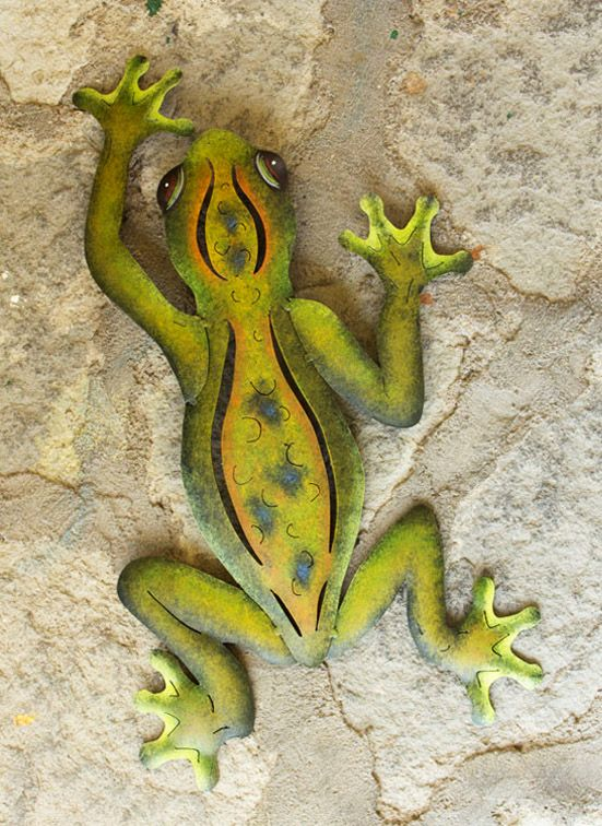 Unique Hand Crafted Steel Wall Art Sculpture, \'Mexican Tree Frog ...