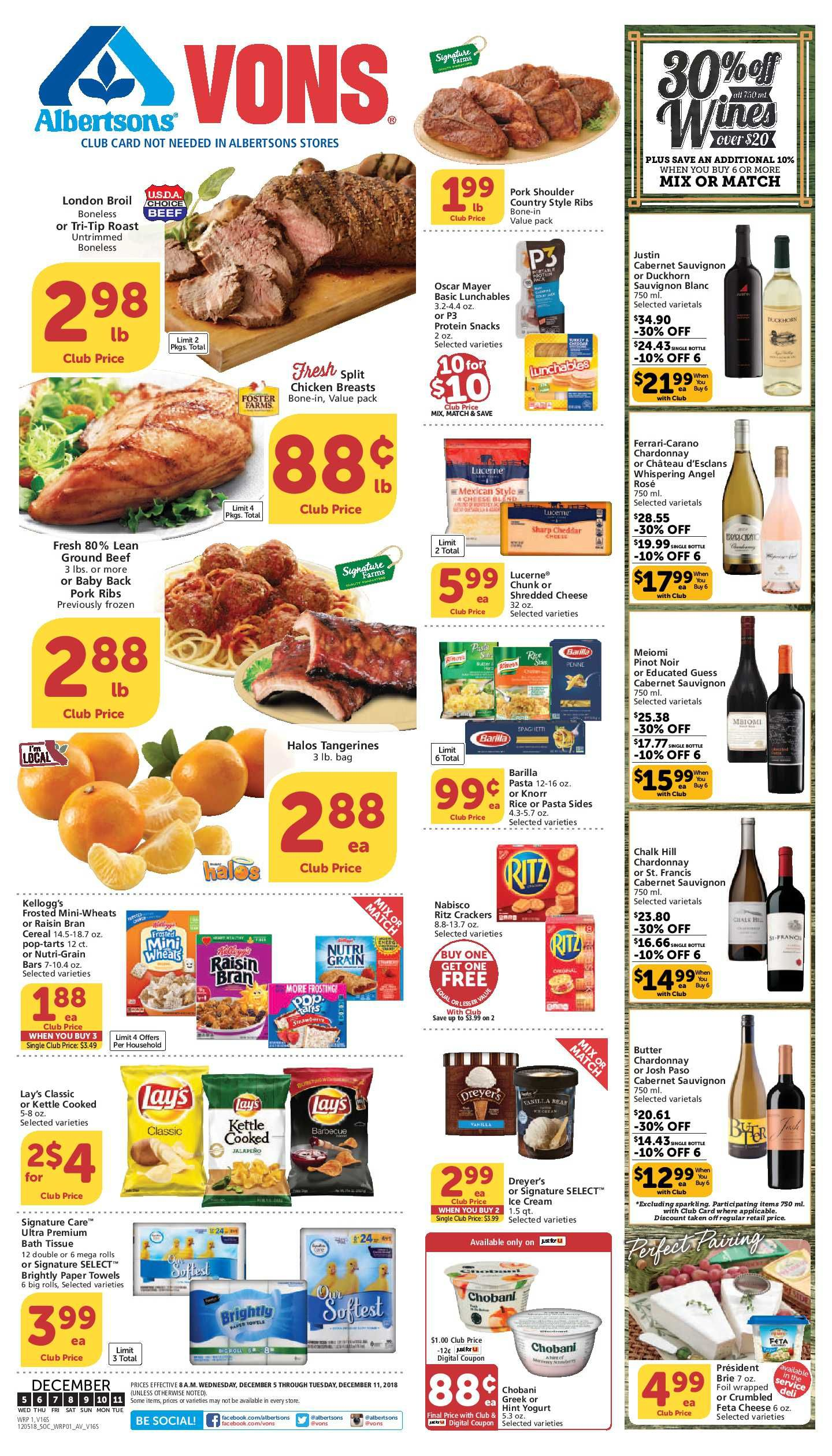 Vons Weekly Ad Flyer 02/26/20 03/03/20 Grocery store