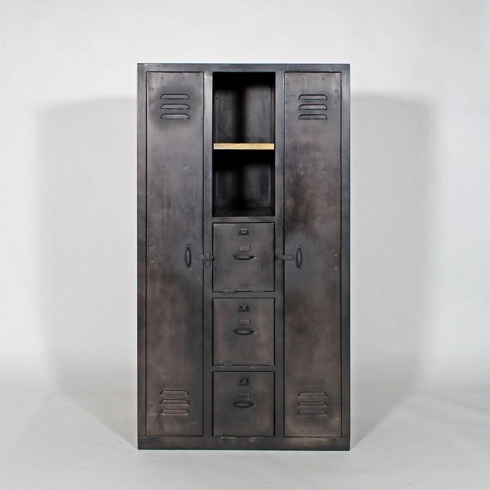 armoire style industriel. Black Bedroom Furniture Sets. Home Design Ideas