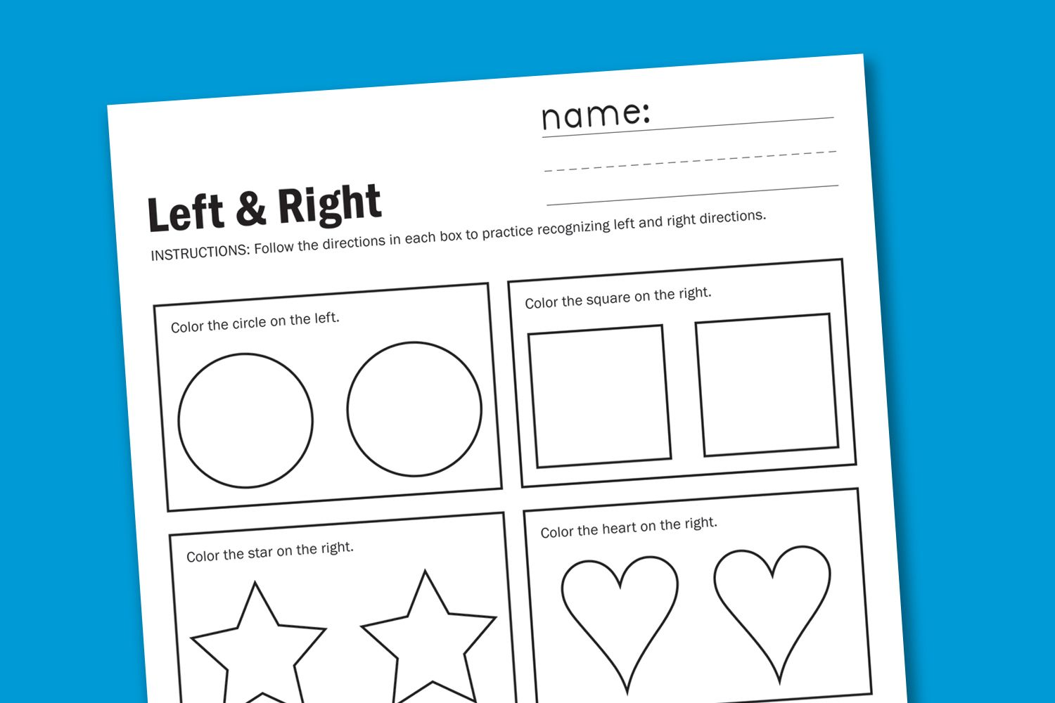Left And Right Worksheet Love These Worksheets Thanks