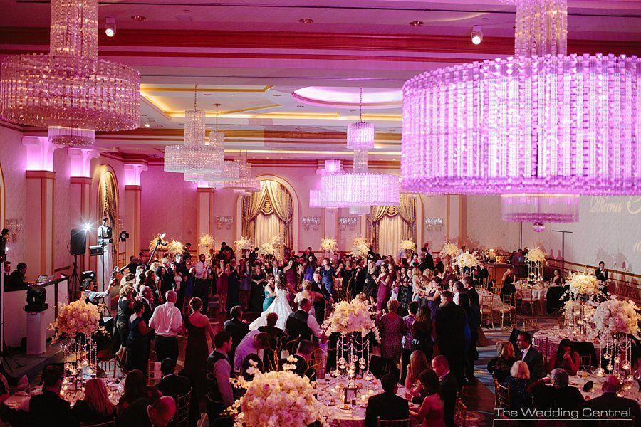 Beautiful Pink Lit Ballroom At Elegant Wedding Venue The Grove