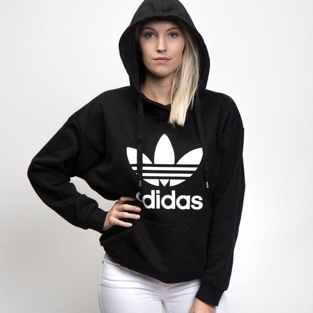 Adidas Women S Trefoil Hoodie Adidas Originals Women Adidas Women Hoodies [ 1000 x 1000 Pixel ]