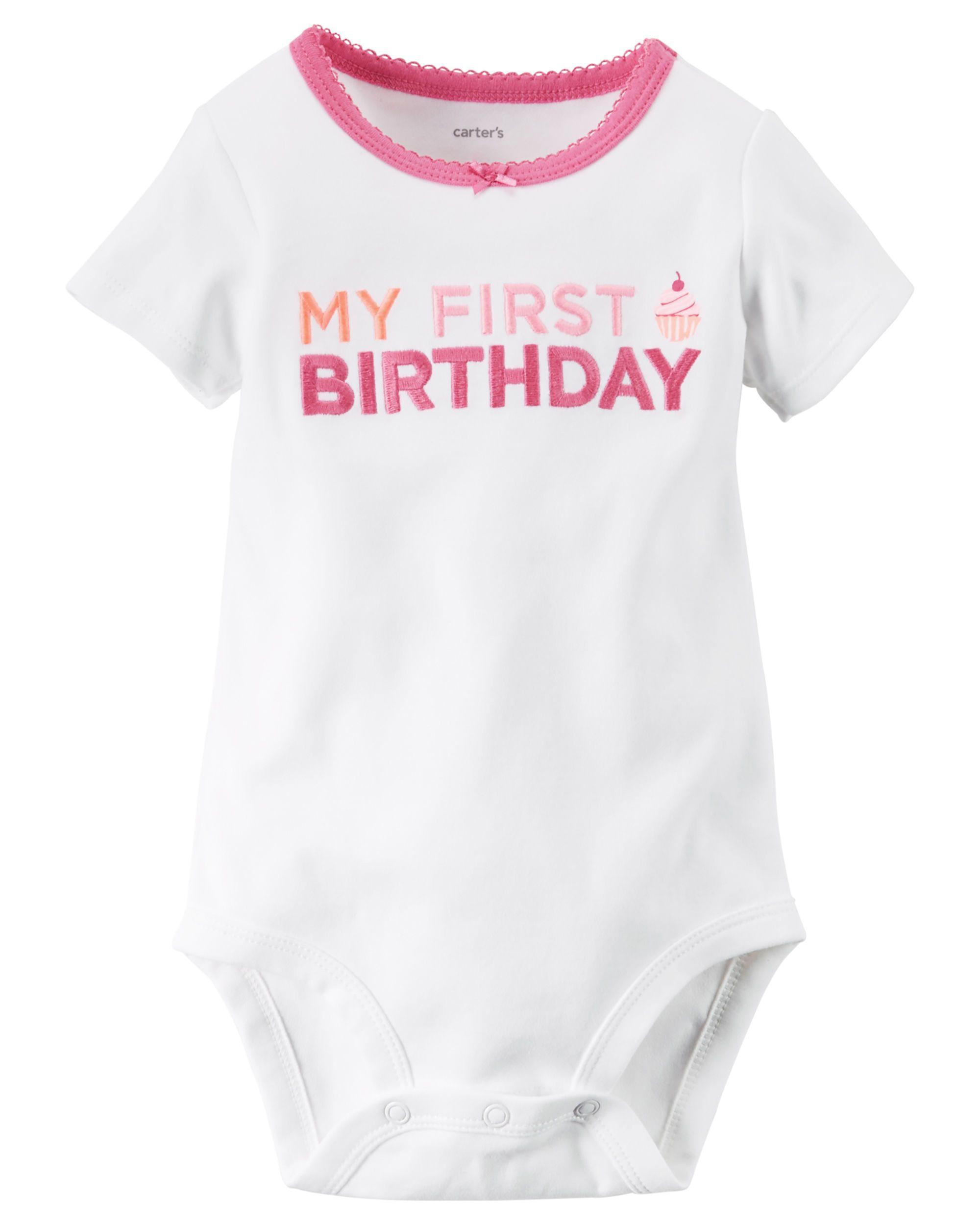 Babys First Birthday Bodysuit