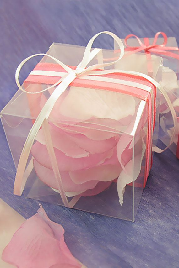 50 Clear Gift Box 3x3x3 Wedding Favor Boxes Matte By Lingswedding