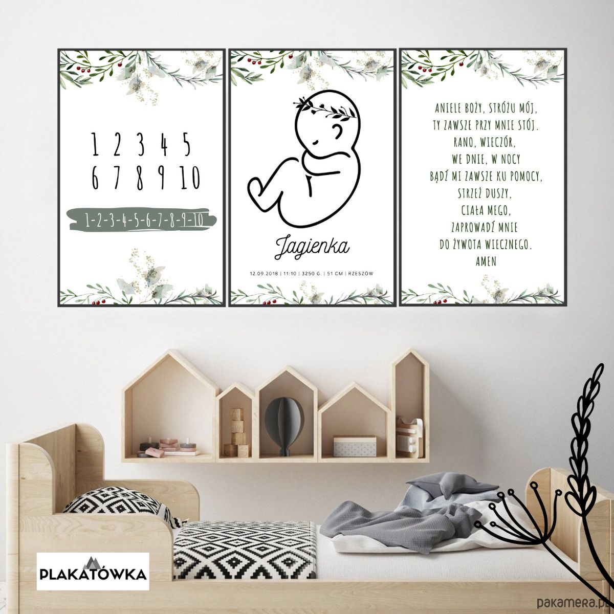 3 Plakaty Dla Dzieci Metryczka Aniele Bozy Zestaw Pakamera Pl Home Decor Kids Poster Home Decor Decals