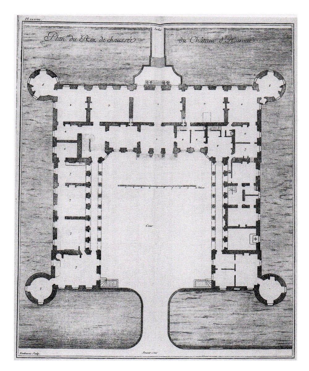 Chateau D Haroue Ground Floor Plan Building Design Plan Craftsman Floor Plans Hotel Floor Plan
