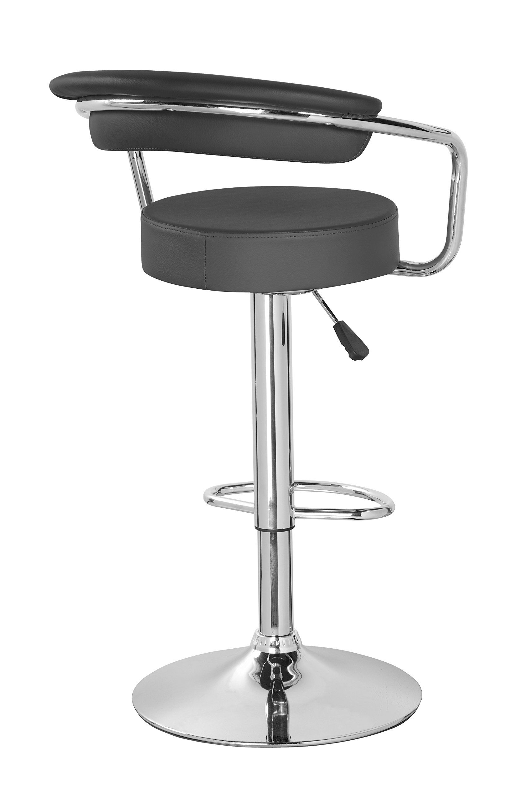 Kerland pu leather swivel adjustable seat height home