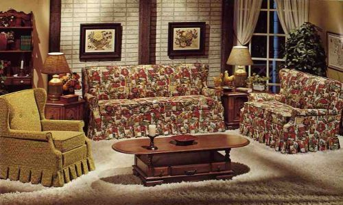 The Color Of This Design As Well Style Furniture Is Very Typical For A Colonial House In 1970s
