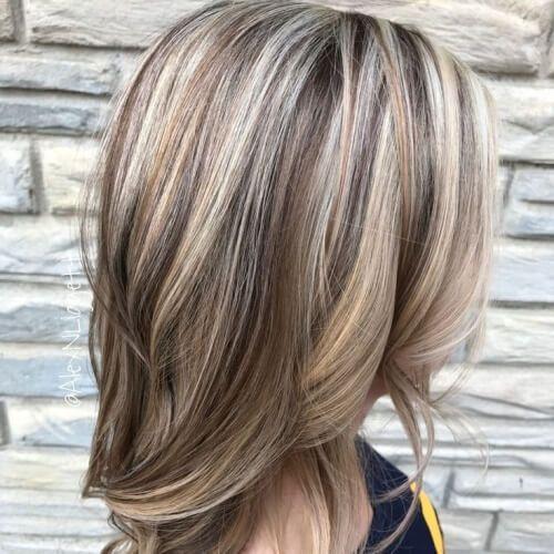 Light Brown Lowlights Platinum Highlights Hair Brunette Hair Hair Blonde Highlights