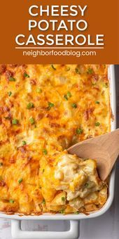 Photo of Easy Cheesy Potato Casserole ist das ultimative Komfort-Essen! Dieses Beilagenre…