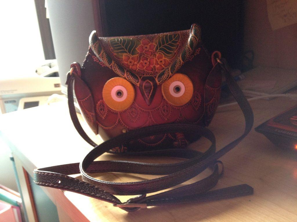 My new Leather OWL Purse Thank You Cedar Point... Sandusky, Ohio *AP