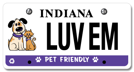 The Pet Friendly License Plate Spay Neuter Services Of Indiana